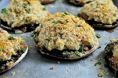 Crab stuff mushrooms