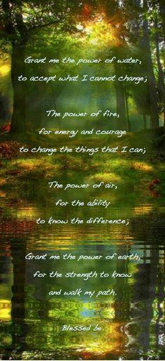 Pagen serenity prayer