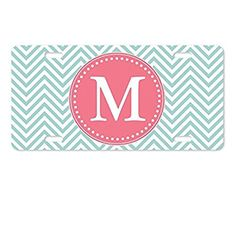 AnnaStoree License Plate Cover Personalized Monogrammed Aluminum Metal License Plate for Auto Accessory License Plate Covers, Aluminum Metal, Car Accessories, Plates, Auto Accessories, Licence Plates, Dishes, Plate, Dish