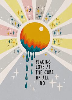 Placing love at the core of all I do Framed Art Print by Asja Boros - Vector Black - MEDIUM (Gallery)-20x26