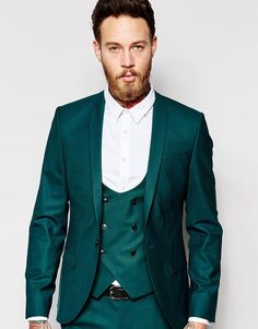 Image 1 of Noose & Monkey Suit Jacket with Stretch And Shawl Lapel in Skinny Fit