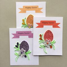 Quilled Easter Cards by OlygamiCrafts on Etsy