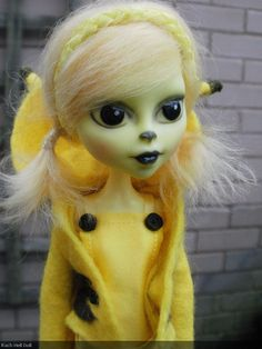 Monster High custom repaint Ooak doll Pikachu pokemon (gijinka). £80.00, via Etsy.