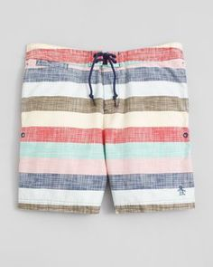 The Original Penguin - Striped Board Shorts