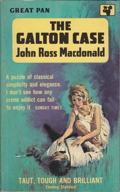 The Galton Case by John Ross Macdonald. Pulp Fiction Art, Crime Fiction, Pulp Art, Science Fiction, Vintage Book Covers, Vintage Books, Vintage Art, Novel Movies, Pulp Magazine