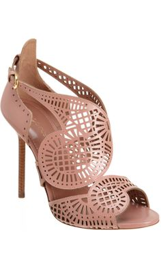 I really kinda love these shoes.  Sergio Rossi Laser Cut Sandal