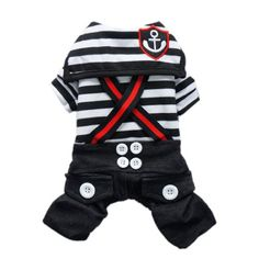 Fashion Nautical Dog Jumpsuit for Dog Shirt Dog Costumes Cozy Dog Clothes Free Shipping,Black,XS - http://www.thepuppy.org/fashion-nautical-dog-jumpsuit-for-dog-shirt-dog-costumes-cozy-dog-clothes-free-shippingblackxs/