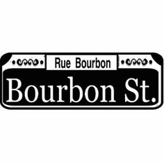 New Orleans Bourbon Street Sign Templates, blanks, add text decorations for table settings at party or wedding reception.
