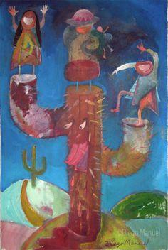 Carnaval andino, acrylic on canvas, 29 x 42 cm. , 2011. Pintura en venta de la…