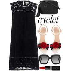 Eyelet by alaria on Polyvore featuring Sea, New York, Gucci, Smashbox and eyelet