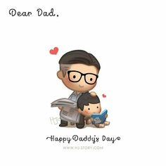 Dear daddy, I love you. More than I can ever express through words or actions. You were always the quiet one with little words, but I know how much you love us and how much you've given up for us. Thank you dad. As with the previous Mother's day. Happy Daddy Day, Happy Fathers Day, Fathers Day Quotes, Dad Quotes, Status Quotes, Cute Love Stories, Love Story, Hj Story, Cute Couple Cartoon