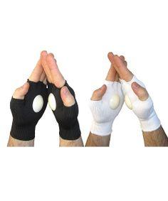 Black & White Spirit Clakkers Noise-Making Gloves Set