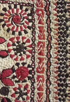 Old or Antique Indian Kantha Embroidery. This is a very fine old Kantha Embroidery coverlet from the Bengal region of India that may have once been used to wrap a gift, 15 x 8 inches.