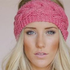 Knitted Head Band - teal and pink available Brand New with no tags - Handmade Imported - will fit most adults and children - made with elastic knitting wool - fitting head size is 44-54cm - will definitely keep part of your head and ears warm - colors available are only hot pink and teal which you choose to purchase here - bundle 3 or more items and receive 25% off Accessories