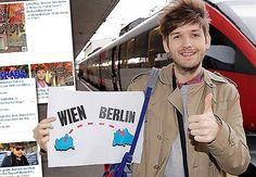 """#ThrowbackThursday Bevor ich vor zwei Jahren für ein paar Monate nach Berlin gezogen bin sagte man mir ich solle den Umzug bitte nicht an die große Glocke hängen. Dieses Foto zeigt mich am Tag darauf in den Seiten der Kronen-Zeitung mit der Überschrift """"Österreichischer YouTuber zieht nach Berlin!"""". #Ups Throwback Thursday, Berlin, Youtuber, Instagram Posts, Fun, Pictures, Moving Home, You're Welcome, Couple"""