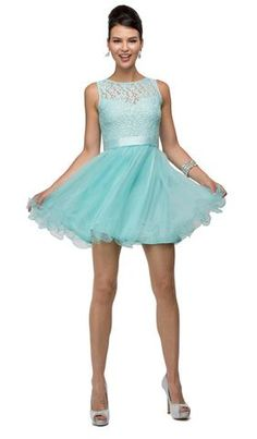 Have a look at this dancing queen cocktail sleeveless dress with aqua color from couture candy. Lacy Wedding Dresses, Spring Formal Dresses, Cute Formal Dresses, Sexy Dresses, Short Dresses, Prom Dresses, Elegant Dresses, Cinderella Dresses, Summer Dresses