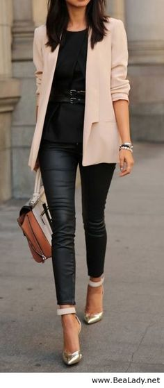 Proportion: skinny jeans look best with top that covers the widest part of the hip or thigh (unless you're really slender!)