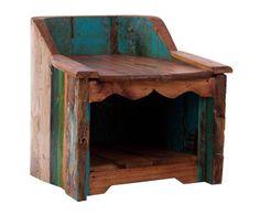 Banco de madera de mahogani - multicolor | Westwing Home & Living