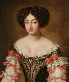 6800 Follower of Jacob Ferdinand Voet Portrait of Maria Mancini, bust-length, in a brown embroidered dres