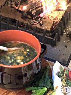 Briciole di Sapori           : Zuppa con cavolo nero, fagioli zolfino e pancetta ...