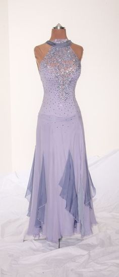 Lavender Gown w/ Chiffon Layered Skirt (Waltz)
