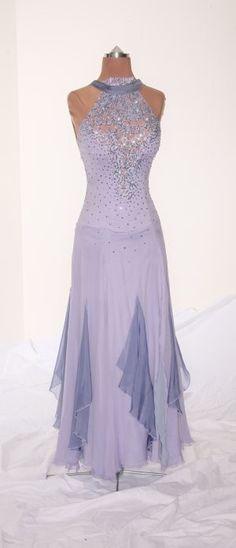 Lavender Gown w/ Chiffon Layered Skirt (Waltz)