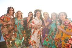 Real life Sample 4 - Bridesmaids Kaftans made From D13 Fabric Pattern