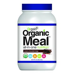 Orgain Organic Meal All-in-One Nutrition, Creamy Chocolate Fudge, 2.01 Pound -- Click on the image for additional details.