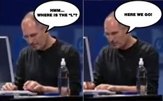 Very few people have noticed that Steve Jobs was not very good typist.
