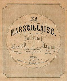 La Marseillaise, Nt'l French Hymn, c1861