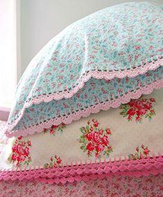 CROCHET spring pillowcases