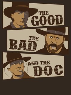 """""""The Good, The Bad, and The Doc"""" by jcthomason A fun mix of westerns: The Good, The Bad, and The Ugly and Back to the Future Part III The Future Movie, Back To The Future, Science Fiction, Michael J Fox, Nerd, Bttf, Marty Mcfly, Film Serie, Cultura Pop"""