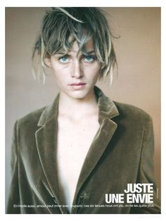 eyes - Amber Valletta photographed by Paolo Roversi - French Glamour: September 1994 -