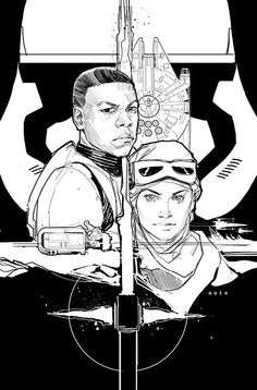 Popular comic book artist Phil Noto was hard at work today (as we're sure he is every day…), but it is obvious he had The Force Awakens on his mind.