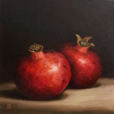 ARTFINDER: Pomegranates by Jane Palmer - This is an Original oil painting, painted alla prima from life. Canvas board size -approx 8 x 8 inch x ) Painted on thick canvas board. Pomegranate Art, Sharpie Drawings, Oil Painting Gallery, Art Paintings For Sale, Original Paintings, Fruit Photography, Still Life Oil Painting, Fruit Painting, Still Life Art