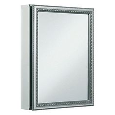 KOHLER 20 inch x 26 inch Aluminum Bathroom Medicine Cabinet with Decorative Silver Framed Mirror Door; Recess or Surface Mount ** Learn more by visiting the image link. (This is an affiliate link) Surface Mount Medicine Cabinet, Recessed Medicine Cabinet, Bathroom Medicine Cabinet, Medicine Cabinets, Mirror Kit, Mirror Door, Silver Framed Mirror, Plastic Hinges, Tempered Glass Shelves