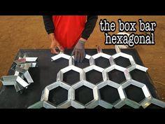 Como fazer um metal oco hexagonal || criações hexagonais de ferro oco - YouTube