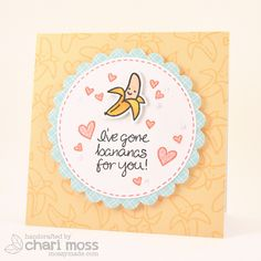 the Lawn Fawn blog Vday_bananas by Chari Moss, via Flickr