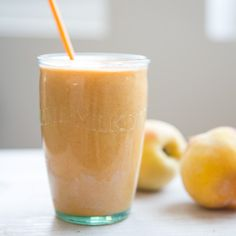 Carrot is the surprise ingredient in this smoothie -- it adds a beta-carotene punch, with flaxseeds for omega-3s. Healthy Peach Mango Carrot Smoothie