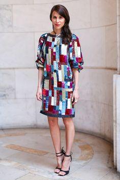 Caroline Sieber en robe Chanel de la collection croisière 2016 au dîner Chanel haute joaillerie à New York