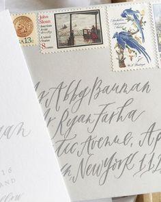 // Cast Calligraphy Envelopes via Instagram / Oh So Beautiful Paper