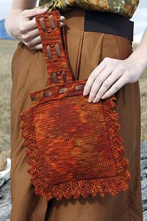 Ravelry: Reef Bag pattern by Charmaine Fletcher; Manos Silk Blend Fino Book 1