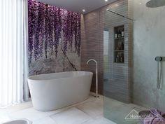 Ponadczasowa łazienka z wanną wolnostojącą i prysznicem. #HomeKONCEPT30 #HomeKONCEPTshop #projektlazienki #projektywnetrz #nowoczesnalazienka #modernbathroom #bathroominspo #bathroomideas Facade House, House Facades, Walk In, Pergola, Bathtub, Bathroom, Design, Wall, Houses