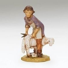 2019 Fontanini Tour Figure, Eder, Sheep Shearer 2019 Fontanini Tour Figure, Eder, Sheep Shearer  This 5 inch Exclusive Fontanini Figurine is ONLY Available at Catholic Supply as we were selected to be one of the few 2019 Tour Stops for Emanuele Fontanini. During his tour stop at our main store he will sign your Fontanini purchases. Plan on visiting our main store on Black Friday, November 29, 2019 Black Friday, Sheep, Garden Sculpture, Catholic, This Is Us, Christmas Gifts, Tours, November, Sign
