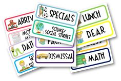 Free Daily Schedule Cards and comprehension posters