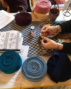 Rug braiding workshop is underway! Farm Store, Fiber Art, Saddle Bags, Chloe, Workshop, Rug, Atelier, Molle Pouches, String Art