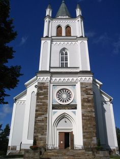 Ylistaro a handsome church. South Ostrobothnia province of Western Finland… Grave Monuments, Upper Peninsula, Church Building, Graveyards, Place Of Worship, Cathedrals, Helsinki, Lakes, Finland