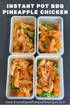 This one pot meal is the perfect recipe for busy weeknights or your weekly meal prep! Have everything on the table in under 30 minutes! Healthy Chicken Recipes, Healthy Dinner Recipes, Bbq Pineapple Chicken, Bruschetta Chicken Pasta, Dinner Entrees, Meal Prep For The Week, Perfect Food, One Pot Meals, Healthy Eating