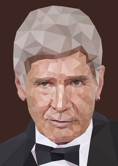 Harrison Ford. Low poly portrait. on Behance