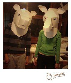 Animal Paper Masks - possible sunglasses!  #masks #sunglasses fun